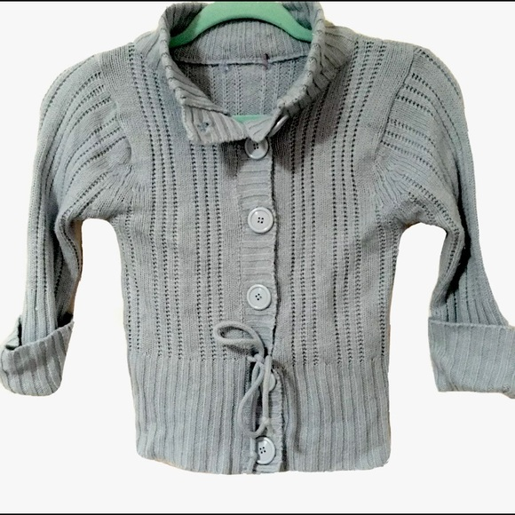 Other - Girls Button Up Light Blue Cardigan Sweater